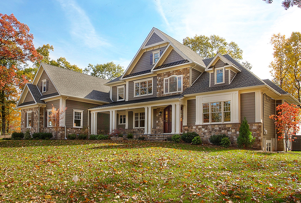 Photograph of the outside of this warren new jersey home where kitchen classics designed and installed a kitchen, all baths and more.