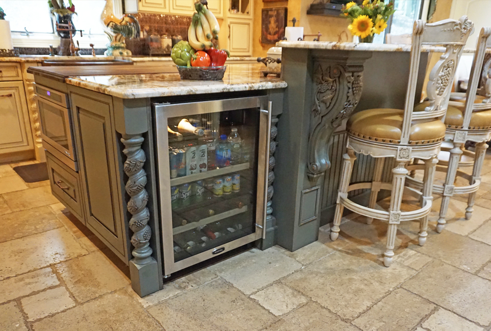 Colts-Neck-NJ-Custom-Kitchen-Mini-Frig