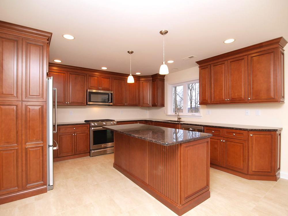 Center island enhances this Somerset county New Jersey kitchen renovation