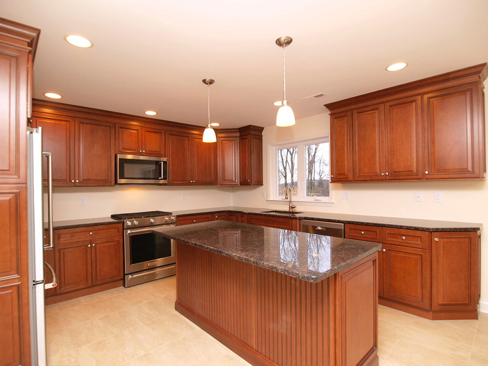 Photo of a new kitchen that was part of the extensive renovation of this martinsville New Jersey home