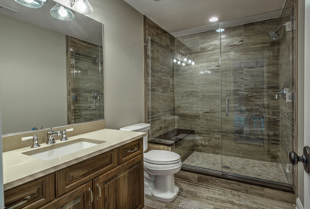 Photograph from kitchen classics of a new jersey custom bathroom that we designed and installed.