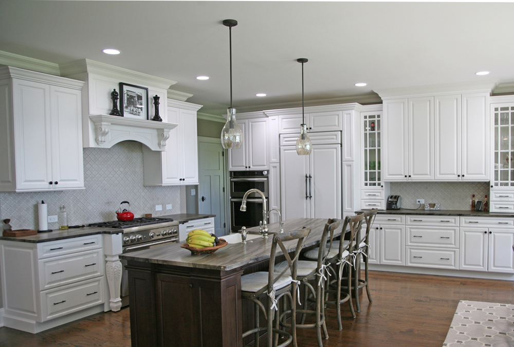 Picture of warren, new jersey kitchen with white cabinetry throughout