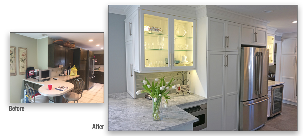 Glass cabinet doors are an increasingly popular way to both store and display kitchenware and artworks.