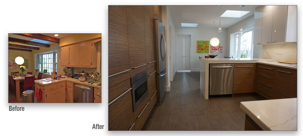 The client wanted a much cleaner look with far more usable storage space. The whole kitchen is so much brighter and more functional now.