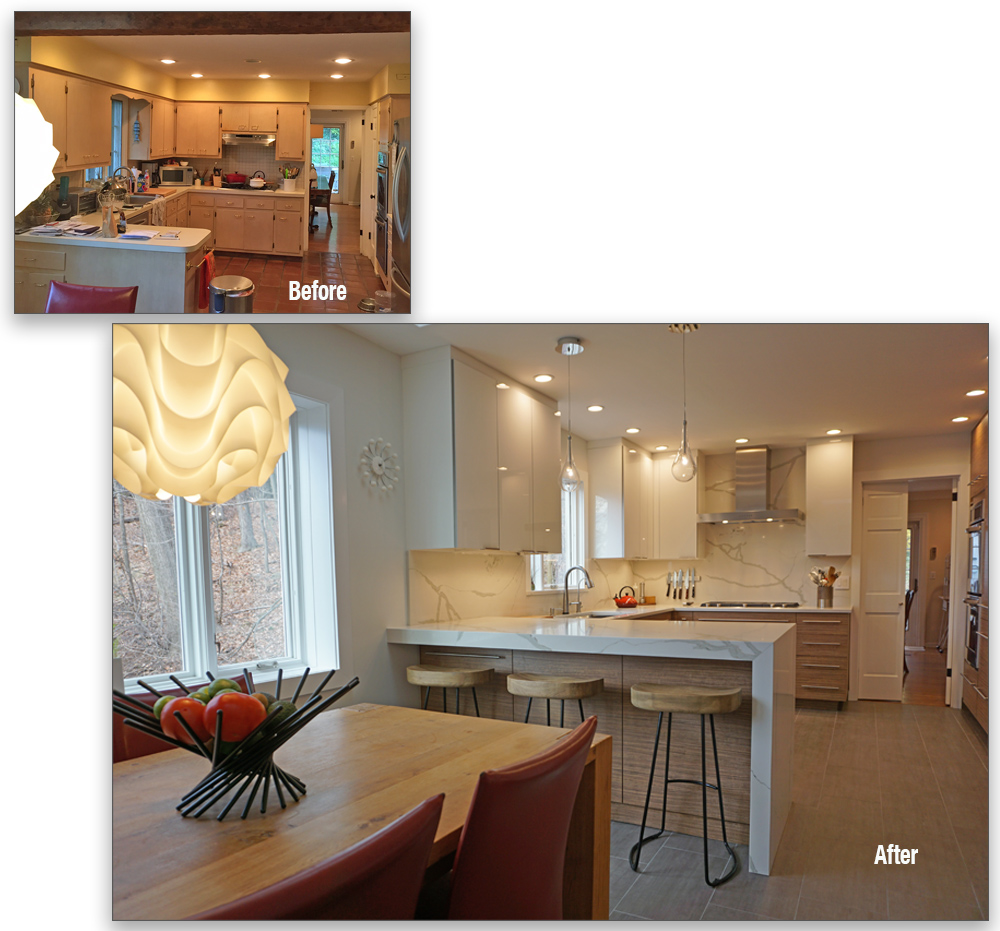 The Summit, NJ project was a complete kitchen replacement from floor to ceiling and all spaces in between.