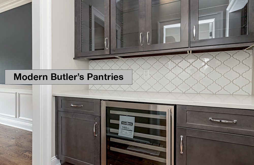 Picture of a modern butler's pantry in Somerset County, New Jersey