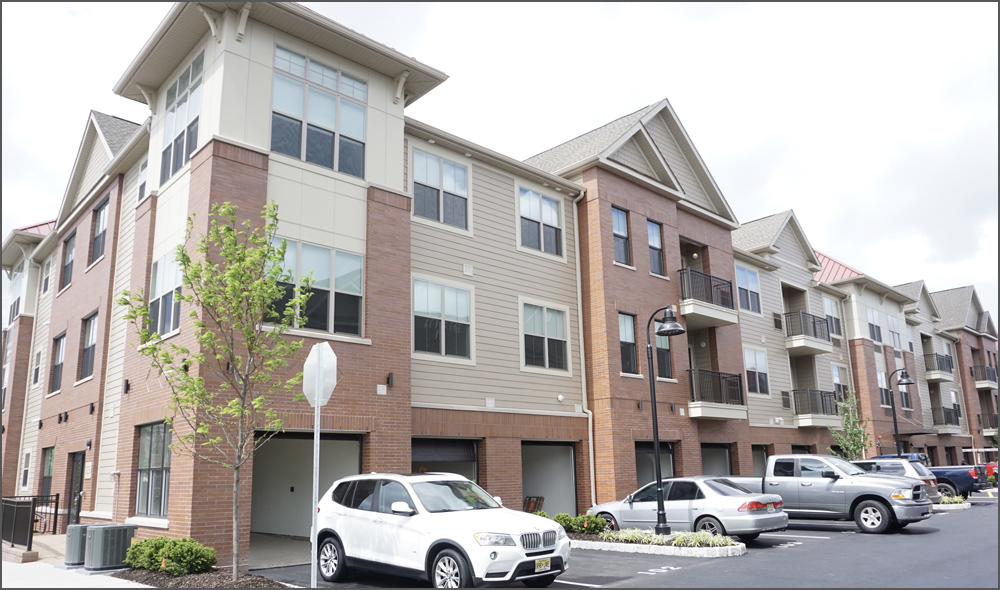 Photograph of the exterior of the Vermella Crossing two apartment rental development in Kearny New Jersey