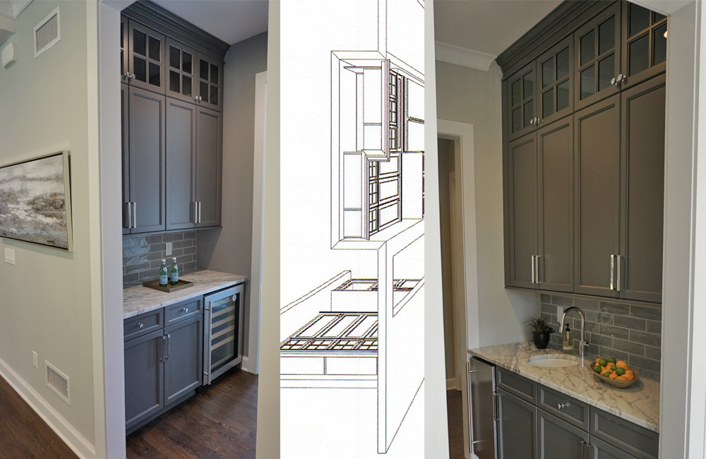 a brand new butlers pantry and wet bar area in a short hills new jersey home