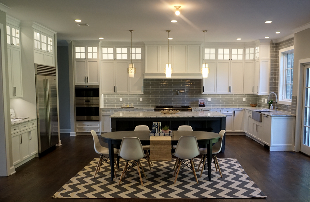 A new kitchen in a brand new home in Short Hills New Jersey