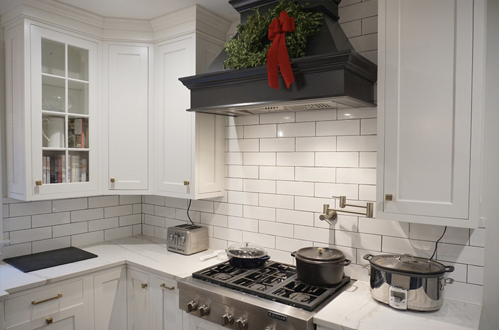The stove and oven area of this westchester county, ny kitchen remodel