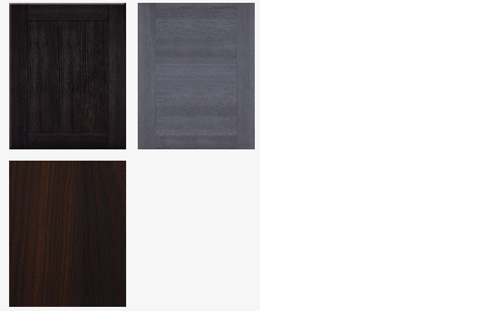 Textures Line Of Kitchen Cabinets similates wood grains