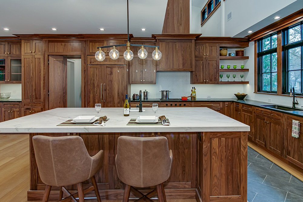 Dark Wood-Kitchen-Island